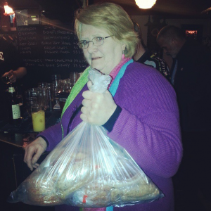 what mums look like with bags of raffled meat
